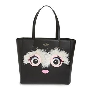 RARE Kate Spade Monster Eyes Hallie Leather Tote